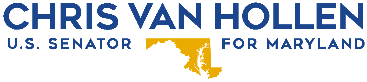 Blue logo for Senator Chris Van Hollen
